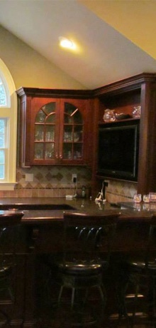 Residential home bar